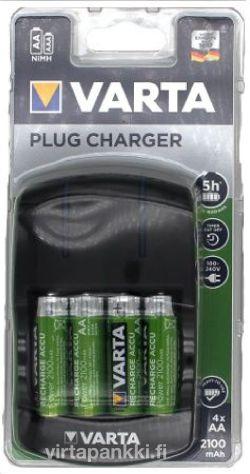 57647 101 451 Plug Charger inkl. 4xAA 56706 2100mAh - Laturi paristoilla