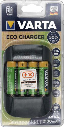57680 101 451 Eco Charger incl 4x 56816 2100mAh - ECO Laturi paristoilla